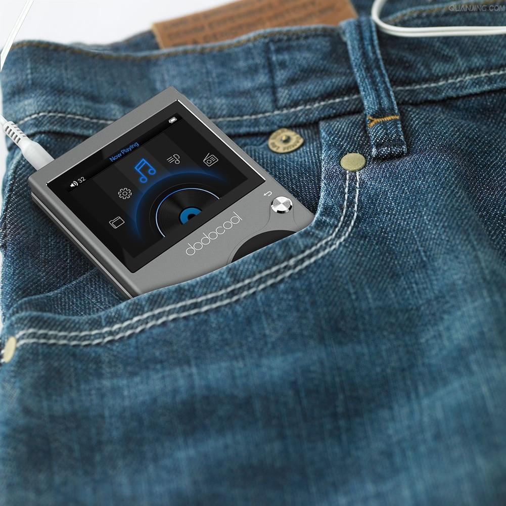 Dodocool 8 GB Hi-Fi lecteur de musique haute résolution Audio numérique sans perte de son lecteur MP3 avec enregistreur vocal et Radio FM