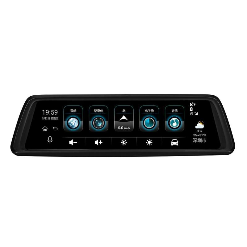Car-Rearview-Mirror-Dvr Phisung V9 4-Cameras Registrar Wifi Navigatio Auto 1296P GPS