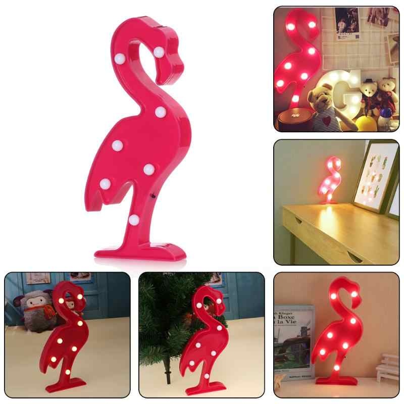 3D LED Night Light Flamingo Pineapple Festival Party Light Lamp Christmas Decoration Lighting Desk Lamp Kids Room LED Lamp