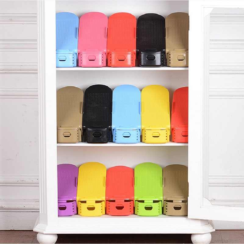 Shoe Rack Storage Shoes Organizer Modern Double Shoebox Cabinet Stand   Plastic Shelf Save Storage Shoes cabinet for Living Room