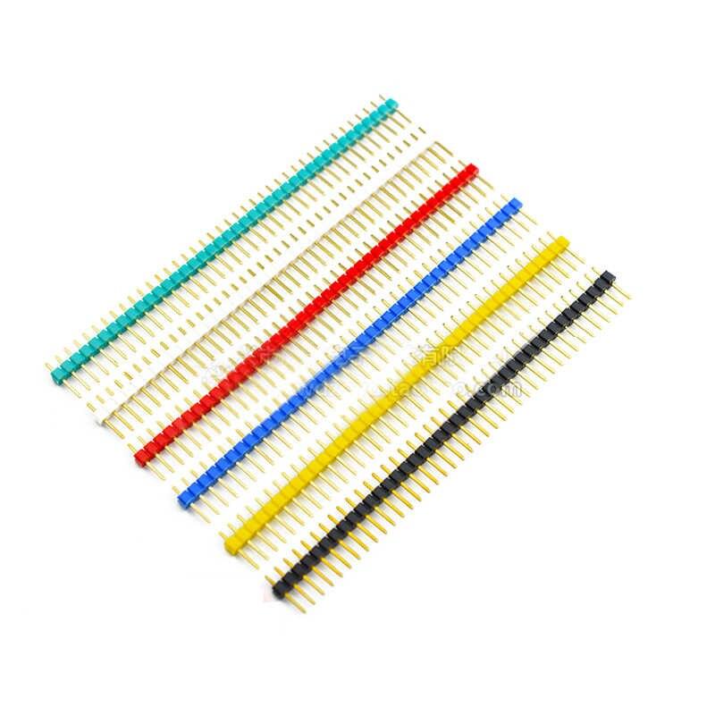 10 sztuk 40 Pin 1x40 kolorowe jeden rząd mężczyzna 2.54 łamliwe do złącz stykowych 40pin taśmy dla Arduino