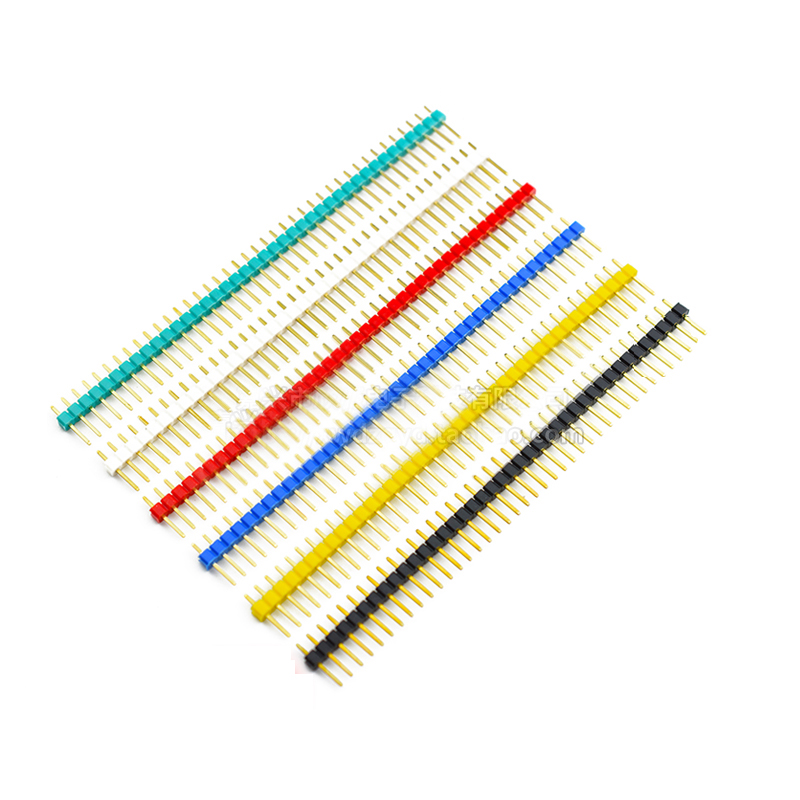 10pcs 40 Pin 1x40 Colorful Single Row Male 2.54 Breakable Pin Header Connector 40pin Strip For Arduino