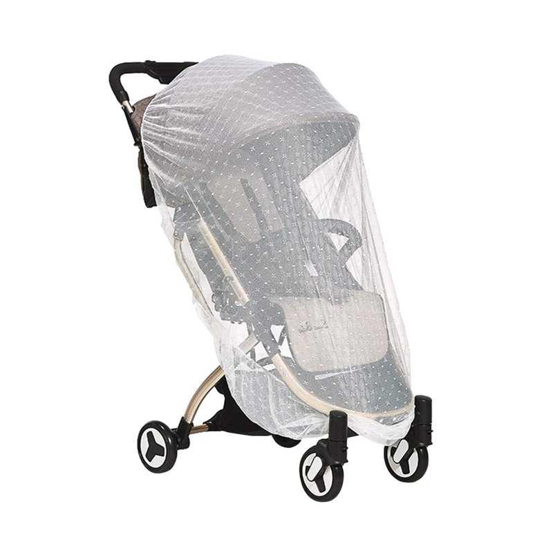 Детская коляска Москитная Сетка Обложка жаккард 1 упаковка белый для коляски, люлька, портативная и прочная Детская противомоскитная сетка, младенец B