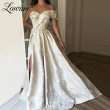 Lowime One Shoulder Ivory Prom Dresses 2019 Party Dress