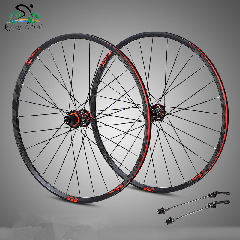 4 Bearing carbon fiber hub mtb wheelset 29/27.5er Six Holes Disc Brake aluminum rims bike Wheel 28H 8/11 Speed brake wheel