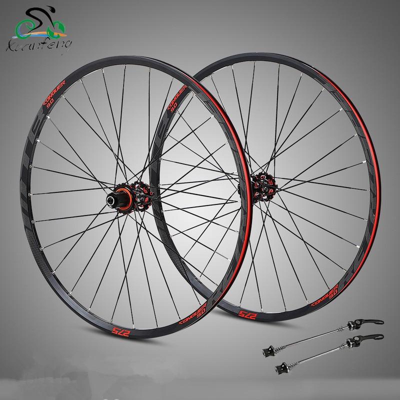 4 Bearing carbon fiber hub mtb wheelset 29 27 5er Six Holes Disc Brake aluminum rims