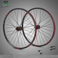 4 Bearing carbon fiber hub mtb wheelset 29/27.5er Six Holes Disc Brake aluminum rims bike Wheel 28H 8/11 Speed brake wheel