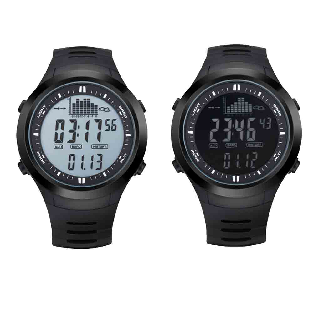 Fishing Watch Barometer Altimeter Thermometer Weather Forecast Stopwatch Digital Watch 5ATM Water resistant