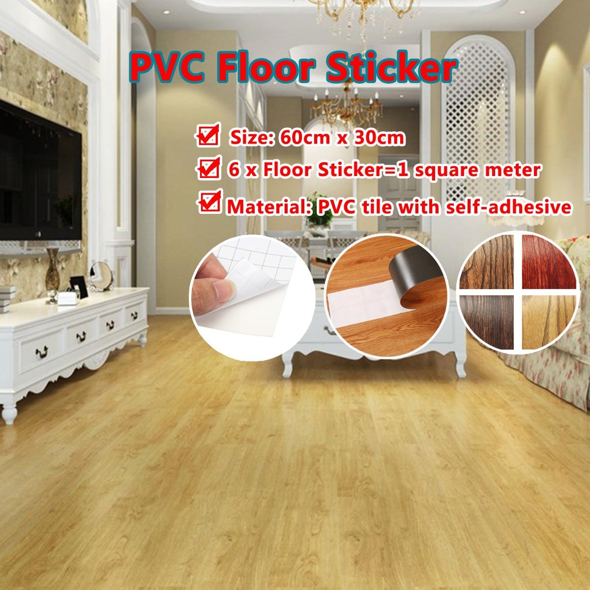 Us 8 51 53 Off Self Adhesive 6 Tile Art Diy Wood Floor Wall Sticker Kitchen Living Room Decor Home Decoration Stickers In Wall Stickers From Home