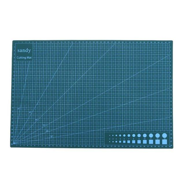 A3 PVC Cutting Mat Non Slip Double Side Self-healing Cutting Pad DIY Patchwork Cutting Board Fabric Leather Paper Tools 450*300m