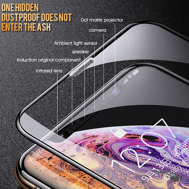 30D Protective Glass on the For iPhone X XS Max XR Tempered Screen Protector Film Curved Edge Glass XR XS Max Full Cover Glass 2