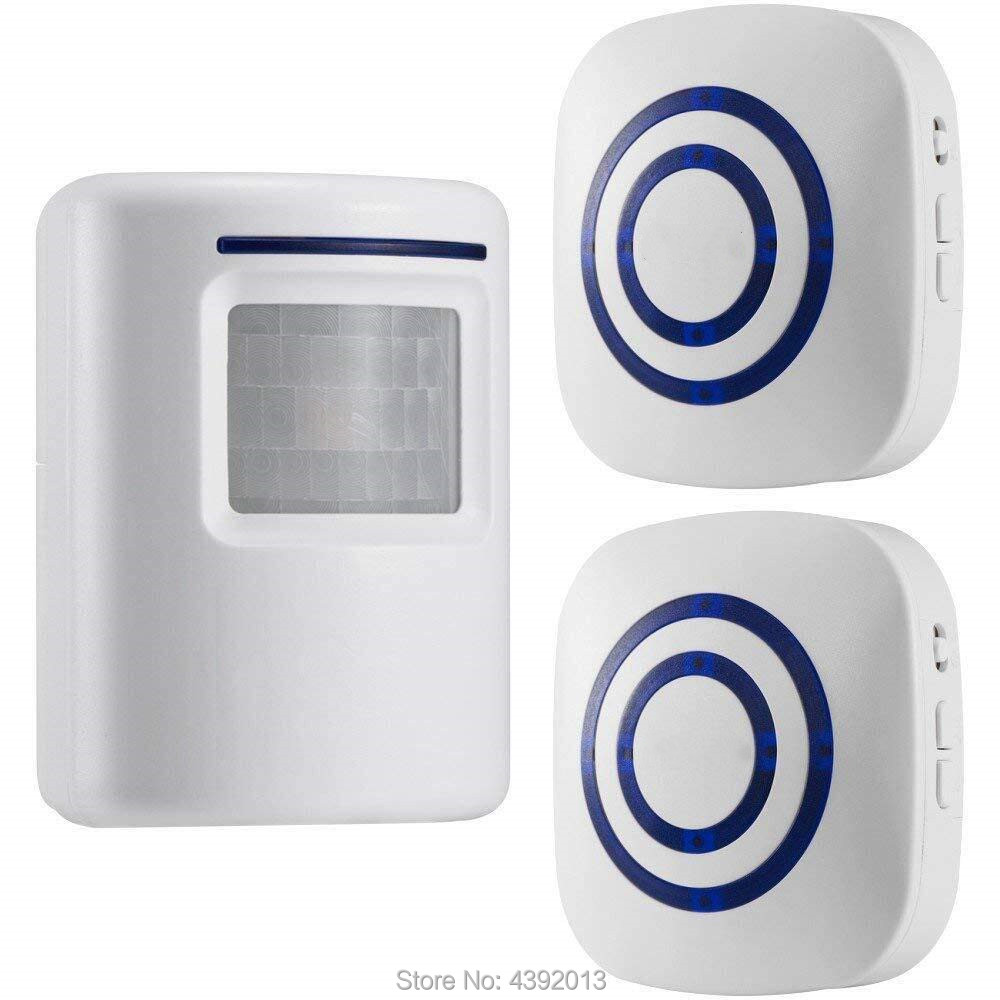 Wireless Doorbell Driveway Security Alert Alarm Gate Entry 2 Chime Motion Sensor