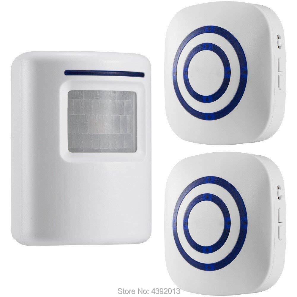 Wireless Motion Sensor Detector Gate Entry Door Bell Welcome Chime Alert Alarm EU Plug Smart Home Security Driveway Alarm