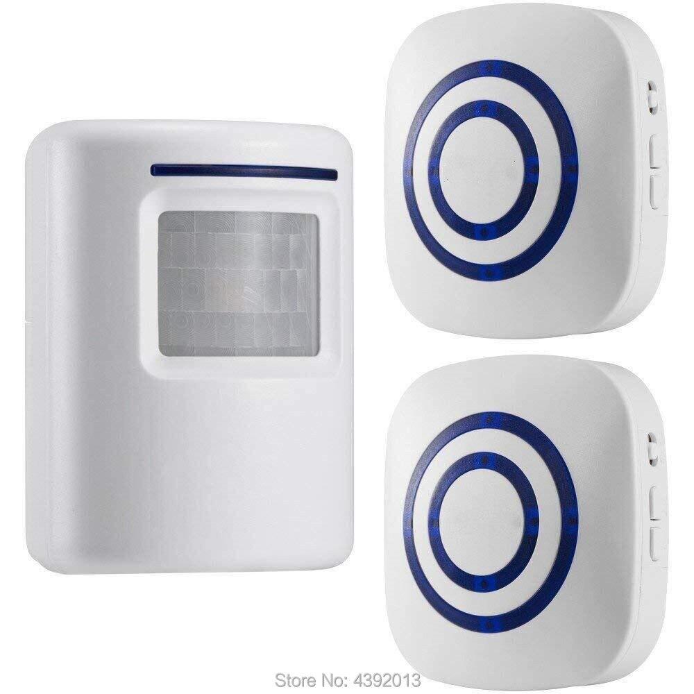 Sicherheitsalarm Wireless Motion Sensor Detektor Tor Eintrag Tür Glocke Willkommen Chime Alarm Alarm Eu-stecker Smart Home Sicherheit Auffahrt Alarm Elegant Und Anmutig