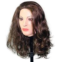 Hot High Quality Latex Mask Fetish Mask Bondage Rubber Woman Mask Realistic Halloween Party Dress Latex Crossdresser Mask