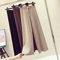 New Korean Fashion Women Trousers Autumn Winter knitted <font><b>Wide</b></font> <font><b>Leg</b></font> <font><b>Pants</b></font> Elastic High Waist Casual Loose <font><b>Pants</b></font>