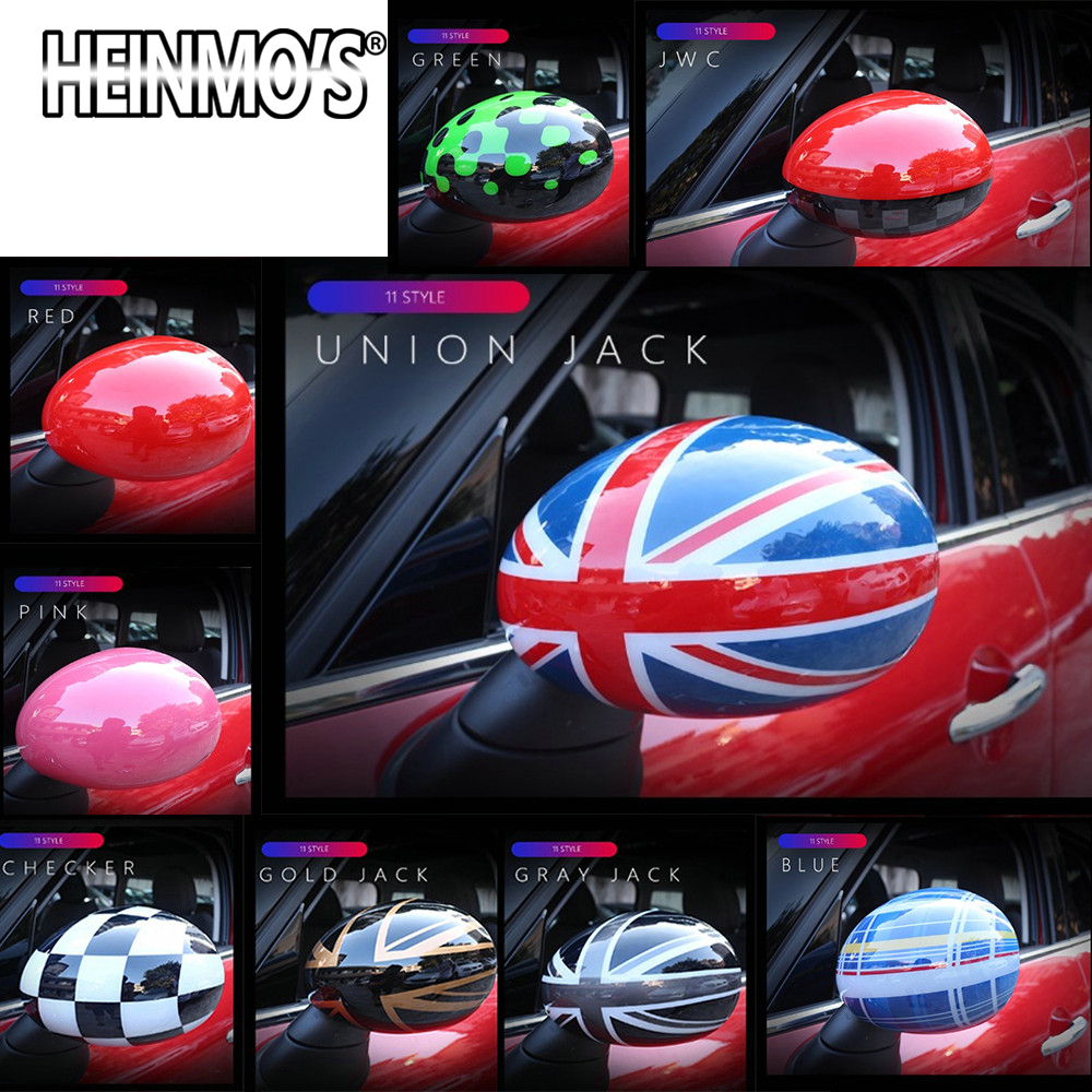 For MINI Countryman Clubman R55 R57 R58 R59 R60 R61 Car Styling Rearview Mirror Sticker Cover For MINI Cooper R56 Accessories