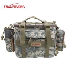 TSURINOYA Multifunction Fishing Bag Y7 19*15*40cm High Capacity  Fishing Tackle Lure Bag Shoulder Bag Canvas Waist Bag