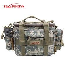 Tsurinoya bolsa de pesca multifuncional y7, bolsa de pesca de alta capacidade y7 19*15*40cm, lona bolsa de cintura