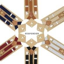 Модные эластичные подтяжки для детей, детские подтяжки для мальчика, регулируемые y-образные подтяжки для детей