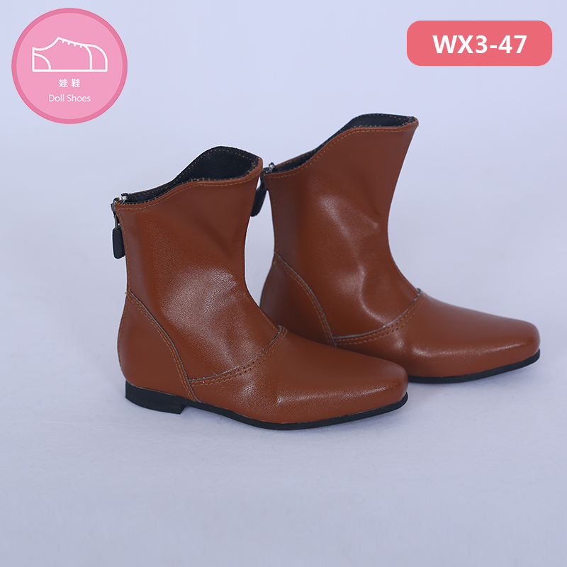 Shoes For BJD Doll Brown PU Leather Fashion Mini Toy Boys Man Shoes 1 3 Doll