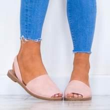 a9118841f9 2018 Mulheres Verão Retro Bandagem Sandálias de salto Plana Sapatos  Peep-toe de Boca de