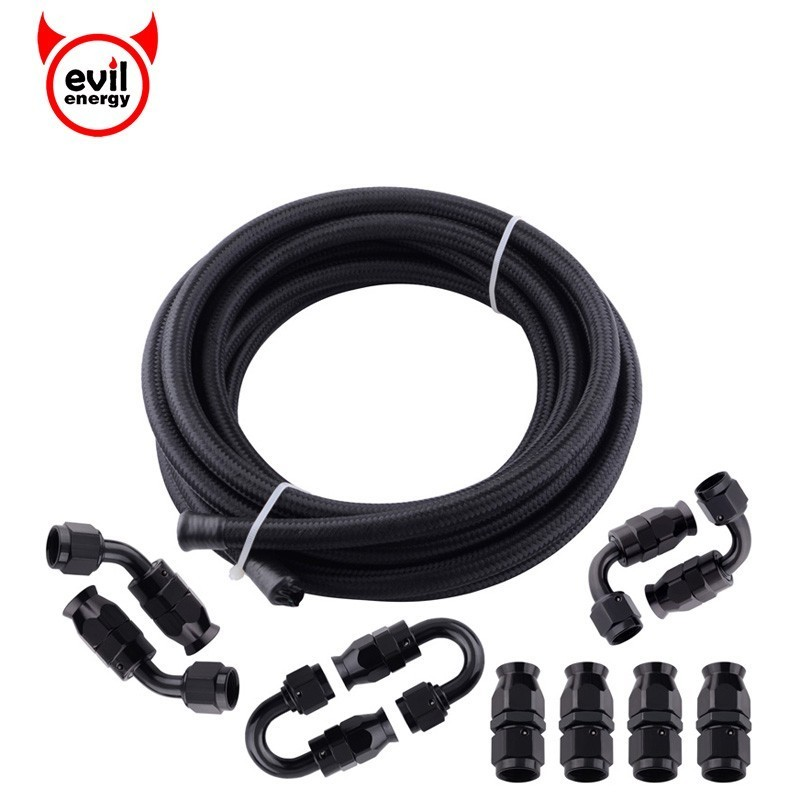 evil energy AN8 0/45/90/180 PTFE Swivel Hose End+5M PTFE Oil Gasoline Brake Line Fuel Line Hose End Fitting-in Fuel Supply & Treatment from Automobiles & Motorcycles    1