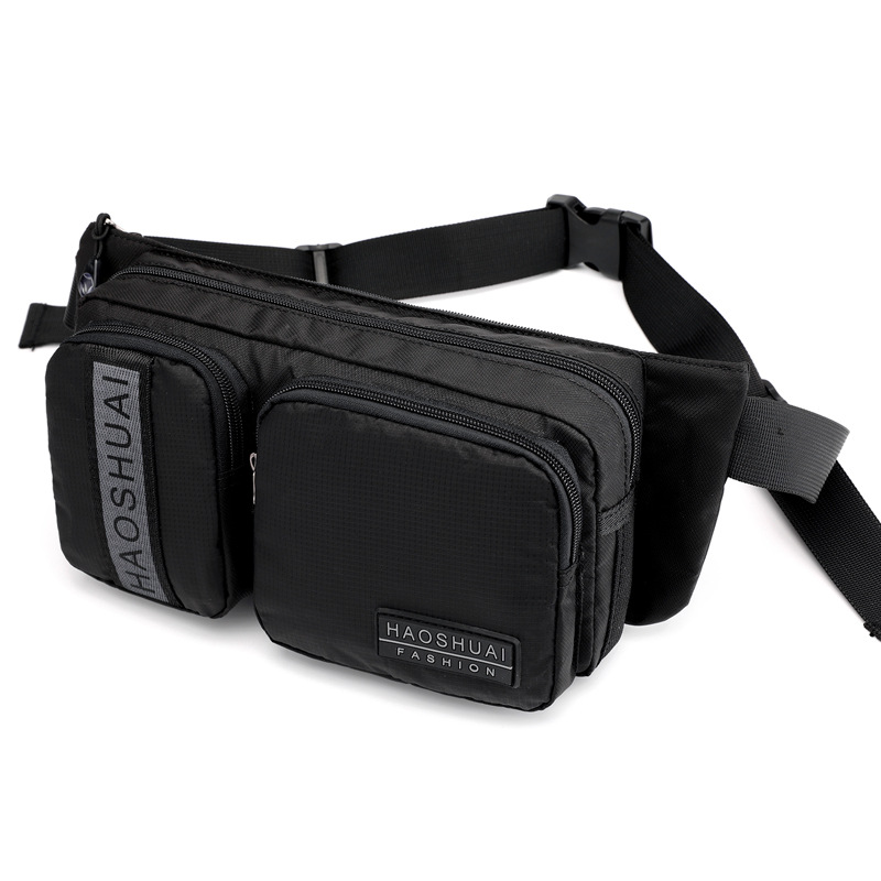 Military Riding Bum Chest Fanny Pack Shoulder Bag Casual Multi-Pocket Pouch High Quality Men Nylon Waist Hip Belt Bags