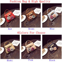 2018 Brand New 1PC Exquisite Women's Mini Floral Handbag Chain Messenger Crossbody Shoulder Bag Big Flower Kids Purses Gifts(China)
