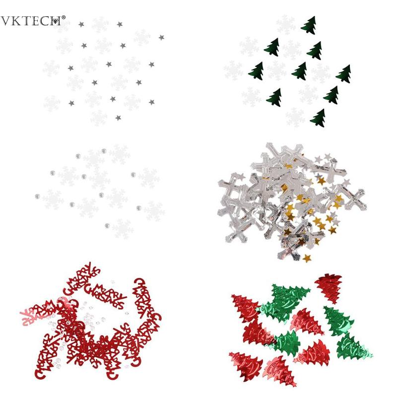 15g Christmas Confetti New Year Christmas Tree Snowflake Sequin Table Confetti Sprinkles For Home Party Christmas Decoration