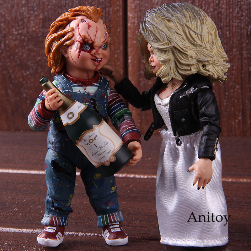 NECA Action Figure Bride Of Chucky Figure Ultimate Tiffany Chucky Gets Lucky Horror Movie Collectible Model ToyNECA Action Figure Bride Of Chucky Figure Ultimate Tiffany Chucky Gets Lucky Horror Movie Collectible Model Toy