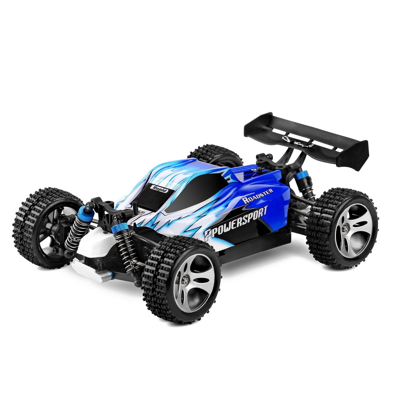 Wltoys A959 1/18 1: 18 échelle 2.4G 4WD RTR Off-Road Buggy RC Voiture pour Cadeau Jouets, L'UE Plug