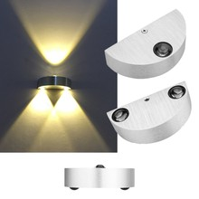 Indoor Led wall light 3W up down aluminum wall sconce Surface mounted 90V to 260V Modern home Bedside Aisle decor led wall lamp american vintage wall lamp indoor lighting bedside lamps wall lights for home adjustable surface mounted up and down wall light