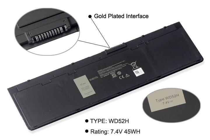 Image 2 - KingSener WD52H VFV59 New Laptop Battery For DELL Latitude E7240 E7250 W57CV 0W57CV GVD76 VFV59 battery 7.4V 45WH-in Laptop Batteries from Computer & Office
