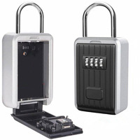 Hanging Safes Box Password Secure Key Storage Box 4 Digital Securite Password Metal Safe Home Office Key Hidden DHZ018 Drop ship