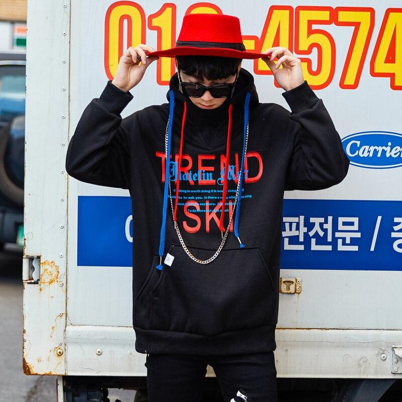 Lettre Pull Hoodies De Hop À Sudaderas Homme 2018 Hombre Capuche Impression Hommes Sweat Streetwear Black Erkek Mode Par Hip HS4xSZqn5
