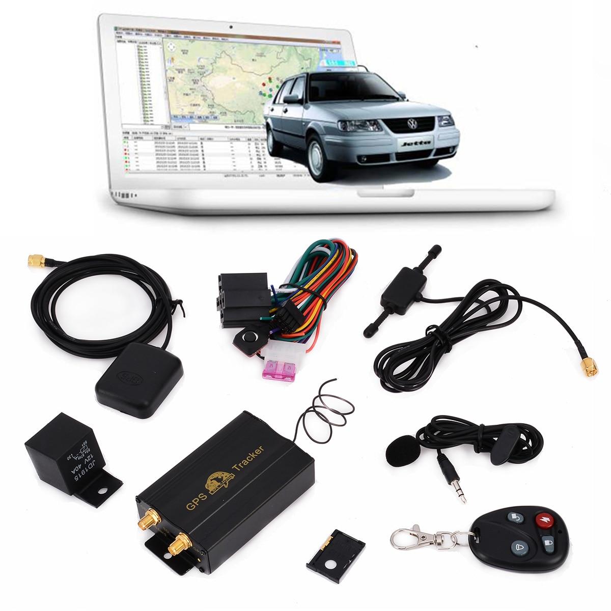 1 ensemble TK103B GPS Tracker SMS/GPRS/GSM GPS localisateur de traqueur de véhicule avec télécommande système d'alarme antivol de voiture