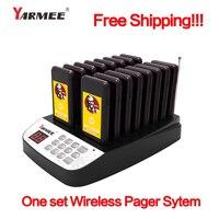 Yarmee 16 шт. беспроводной пейджер ресторан оборудование Coaster официант подкачки очереди системы + перезаряжаемые мощность кабель