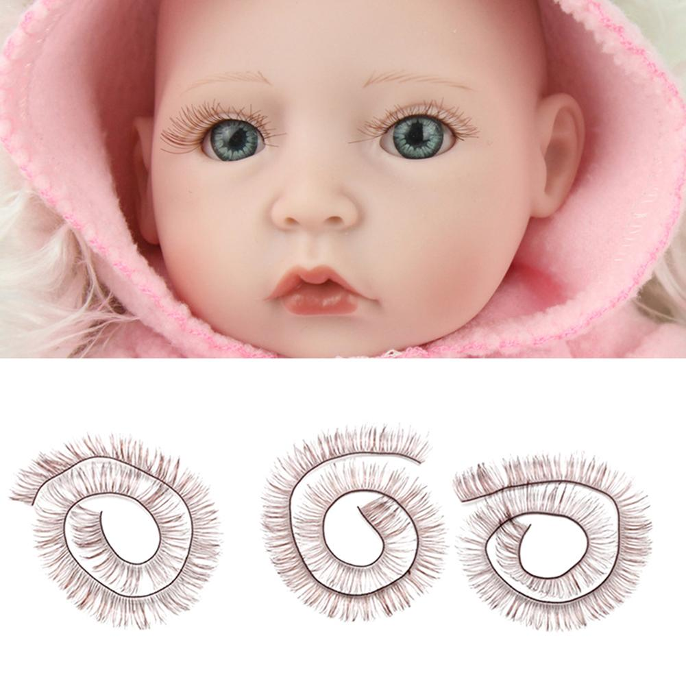 1 Piece 20cm Eyelashes For Baby Dolls Accessories Kids Children Toy Doll False Eyelashes Beauty Eyelash Set Silk Material 3D
