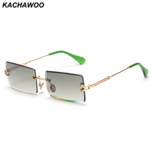 Kachawoo Fashion Rimless Sunglasses Women Accessories 2019 R