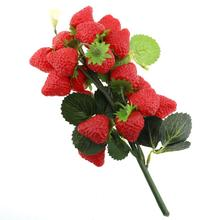 Gresorth Fake Fruit Bunch Decoration Artificial Strawberry Lifelike Food Home Kitchen Shop Party Christmas Display