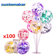 100pcs wholesale Glitter Confetti Balloons for Birthday Wedding