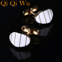 2017 New French Sleeve Cuff Buttons Shirt Cuff link for Men's Gifts Unique Wedding Gold Cufflinks For Mens Business Gift Suit vintage sell high buy now stock market cufflinks for men shirt cuff buttons business sleeve nail steel brothers gift for friend