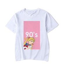 BTFCL 2019 Women Tshirts Kawaii Sailor Moon Shirt Girls 90S Tops Harajuku Pink Cute T-shirts Short Sleeve Tee