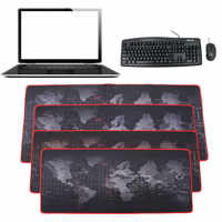 Large Size Computer Keyboard Mat 600x300/700x300/800x300/900x400mm World Map Locking Edge Mouse Pad Gamer Table Gaming Mousepad