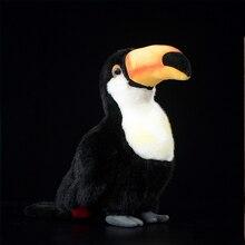 24 Cm Toucan Bird Stuffed Animal Simulation Soft. Kawaii Lifelike Dolls And Toys For Children Hobbies