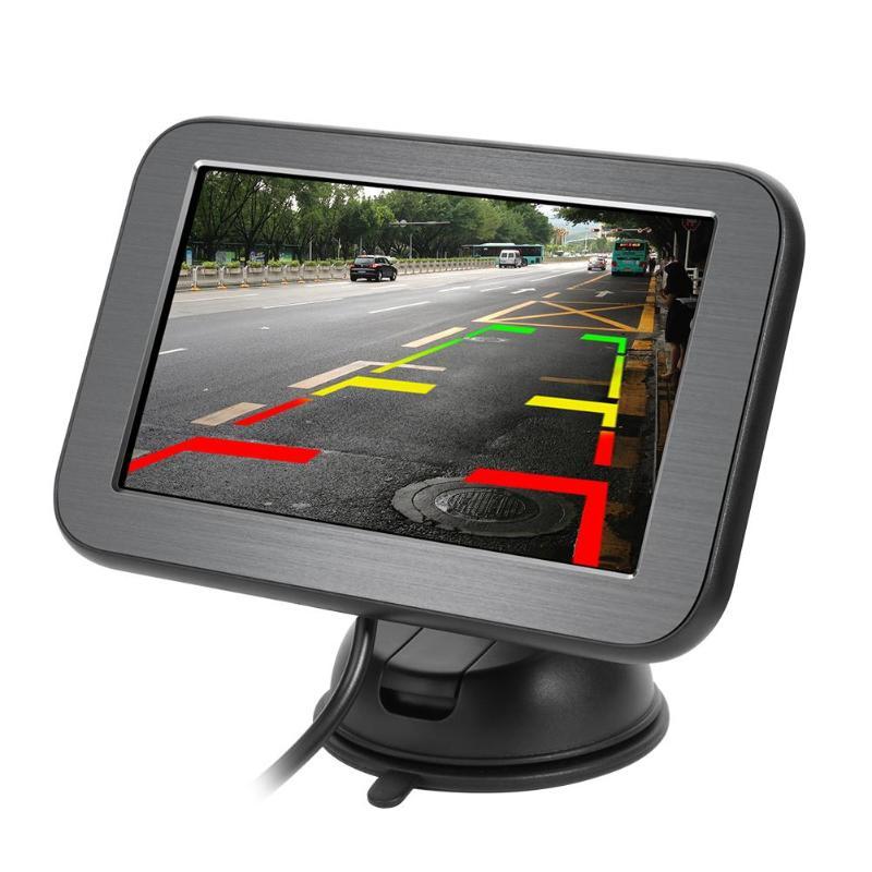 Moniteur de voiture de 5 pouces vue arrière de voiture moniteur de sauvegarde de stationnement entrée vidéo numérique HD pour caméra de recul