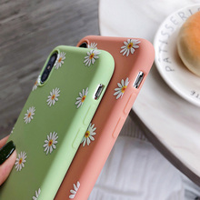 Moskado Flowers Phone Case For iPhone X XR XS Max 7 8 6 6s Plus 5 5s SE Chrysanthemum Floral Soft TPU Silicone Back Cover Cases