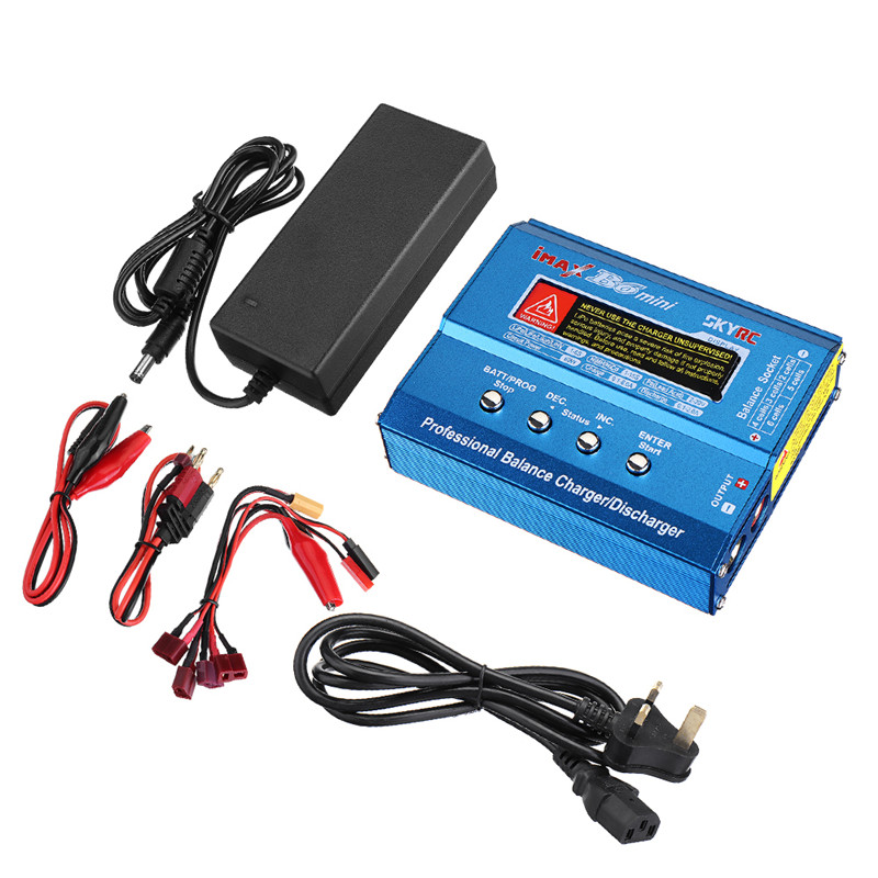 LEORY iMAX B6 Mini 80W 5A DC Battery Balance Charger XT60 Plug with Power Supply Balance Charger Discharger for RC HelicopterLEORY iMAX B6 Mini 80W 5A DC Battery Balance Charger XT60 Plug with Power Supply Balance Charger Discharger for RC Helicopter