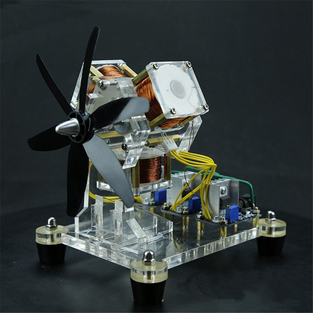 Moteur sans brosse Hall capteur Machine électrique Triple bobine ventilateur lame haute vitesse modèle physique lames moteur équipement éducatif